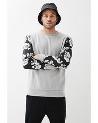 21men 21 X Ray Floral Sleeve Sweatshirt