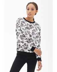 Forever 21 Woven Floral Print Pullover