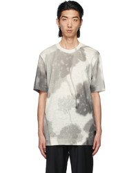 Fendi Off White Linen Shady Flowers T Shirt