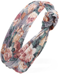 Knotted floral print headwrap medium 193621