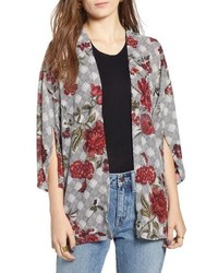 Treasure & Bond Floral Glen Check Kimono