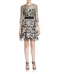 ABS by Allen Schwartz Lace Fit  Flare Dress
