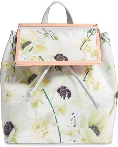 Ted Baker London Trinity Floral Leather Backpack Grey | Where to ...