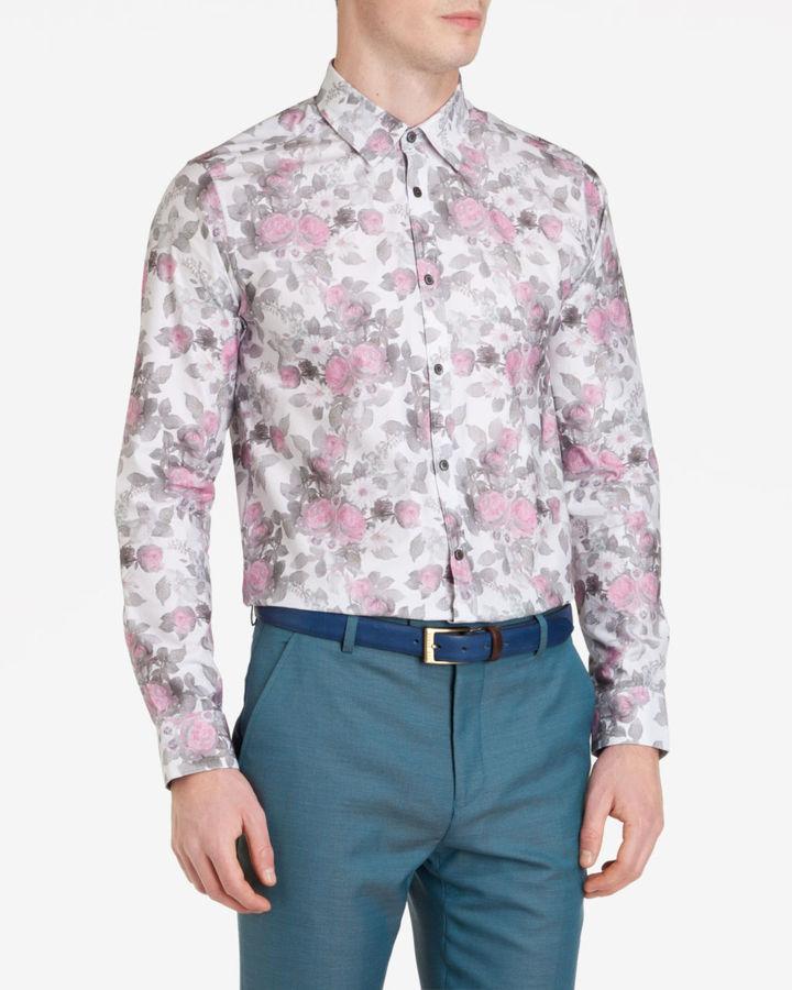 d38465eae41 ... Ted Baker Horatia Floral Print Shirt ...