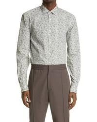 Ermenegildo Zegna Print Button Up Pure Cotton Shirt