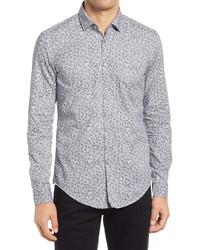 BOSS Rikki Floral Print Button Up Shirt