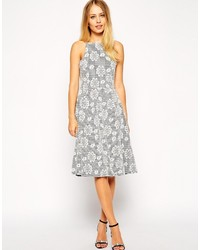 Collection textured low back midi dress in floral print medium 190335