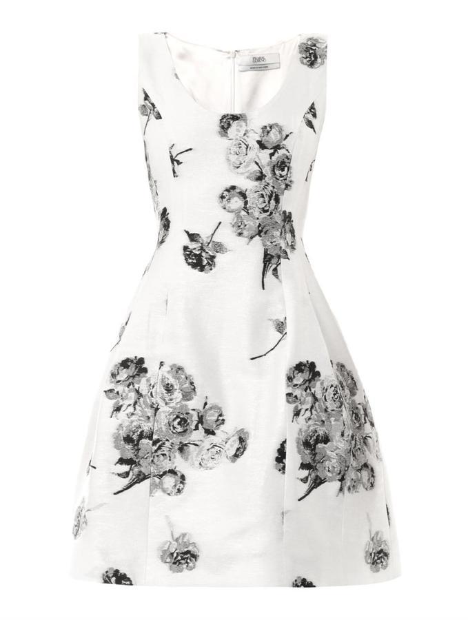 Prabal Gurung Floral Jacquard Full Skirt Dress | Where to buy & how ...