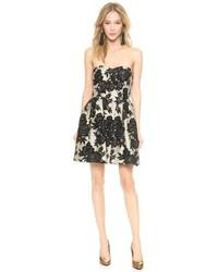 Jill floral jacquard strapless dress medium 94524