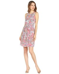 Rebecca Taylor Coral Reef Floral Printed Silk Flared Dress