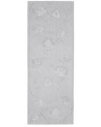 Armani Collezioni Floral Jacquard Silk Blend Scarf