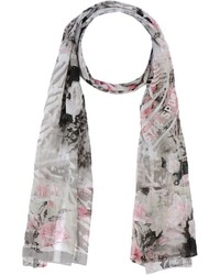Grey Floral Shawl