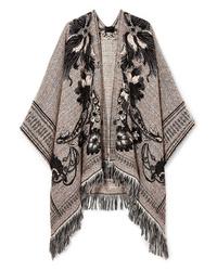 Etro Fringed Jacquard Knit Wrap