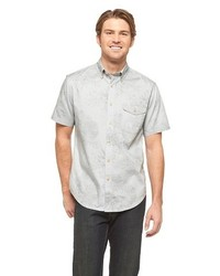 Merona Short Sleeve Floral Shirt Gray