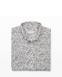 Club Monaco Short Sleeve Floral Shirt