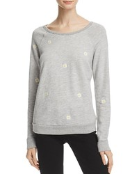Sundry Daisies Embroidered Sweatshirt