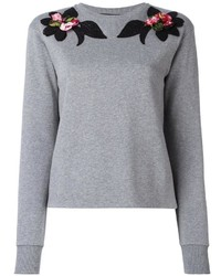 Dolce & Gabbana Embroidered Flower Sweatshirt