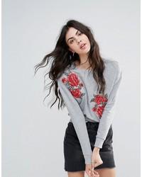 Brave Soul Embroidered Sweatshirt