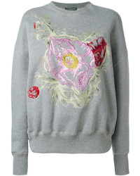 Alexander McQueen Floral Embroidered Sweatshirt