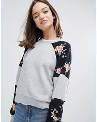 Monki Floral Sweatshirt