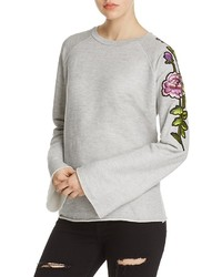 Nation Ltd. Nation Ltd Embroidered Sleeve Pullover 100%