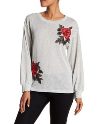 Pleione Pleione Embroidered Sweatshirt