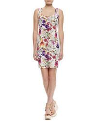 Grey Floral Tank Dress