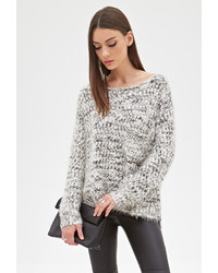 Forever 21 Fuzzy Marled Knit Sweater