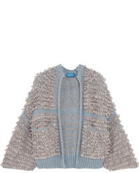 Mih jeans alice boucl knit cardigan gray medium 6744543
