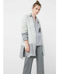 Mango Outlet Textured Cotton Cardigan