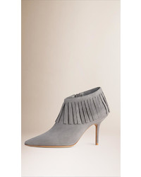 Fringe suede ankle boots medium 343566