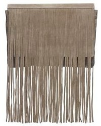 Michl kors joni suede fringe clutch medium 217514