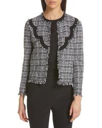 kate spade new york Scallop Detail Tweed Jacket