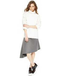 DKNY Asymmetrical Midi Skirt