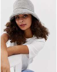 ASOS DESIGN Grey Borg Bucket Hat
