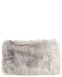 Faux fur clutch pink medium 1044247