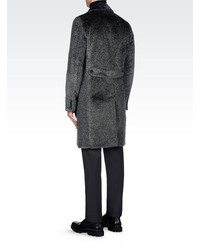 Giorgio Armani Double Breasted Runway Coat In Eco Fur