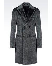 Double breasted runway coat in eco fur medium 105611