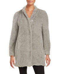 Kenneth Cole New York Faux Fur Button Front Coat