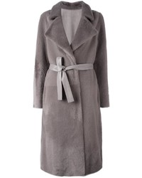 Yves Salomon Long Lamb Fur Coat