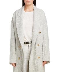 Isabel Marant Longline Double Breasted Alpaca Wool Coat