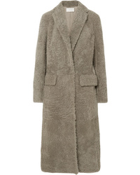 The Row Muto Belted Shearling Coat
