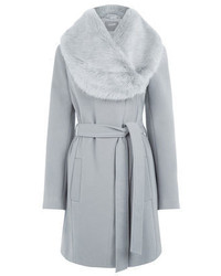 Grey Fur Collar Coat
