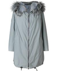Gianfranco ferr fur trim coat medium 5207061