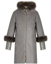 Herno Fur Trimmed Cashmere Coat