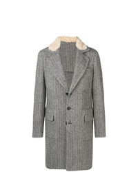 Ermanno Scervino Herringbone Single Breasted Coat