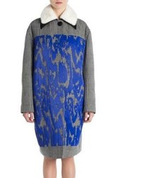 Marni Mink Fur Collar Embroidered Coat