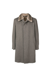 Corneliani Midi Single Breasted Coat
