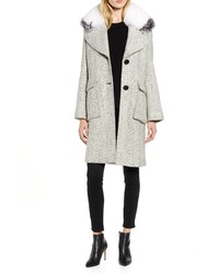 Derek Lam 10 Crosby Tweed Coat With Genuine Fox