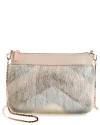 London emmia faux fur crossbody bag beige medium 1150953